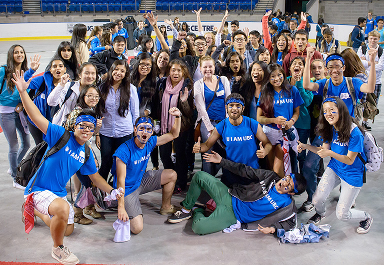 Students celebrate after the pep rally. Photo credit: Don Erhardt