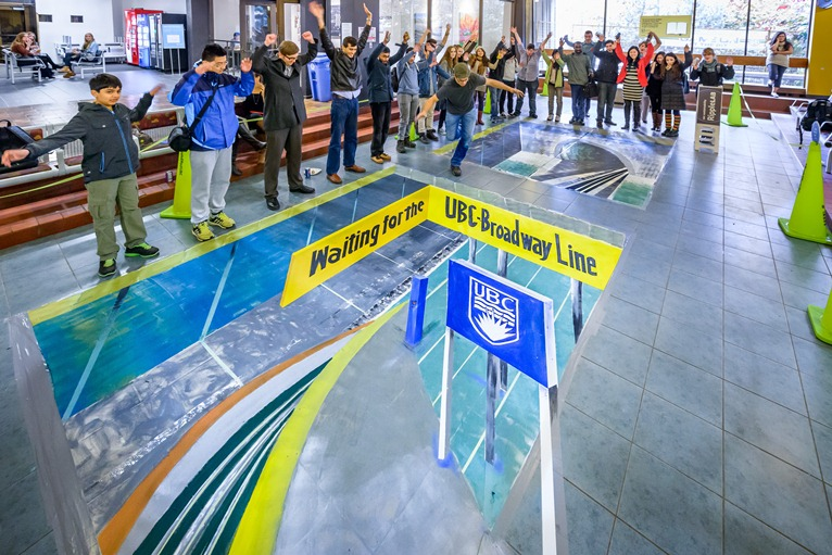 All Aboard: UBC Station was a ripple lab that showed what it would be like to have a subway station at UBC. Photo credit: Don Erhardt
