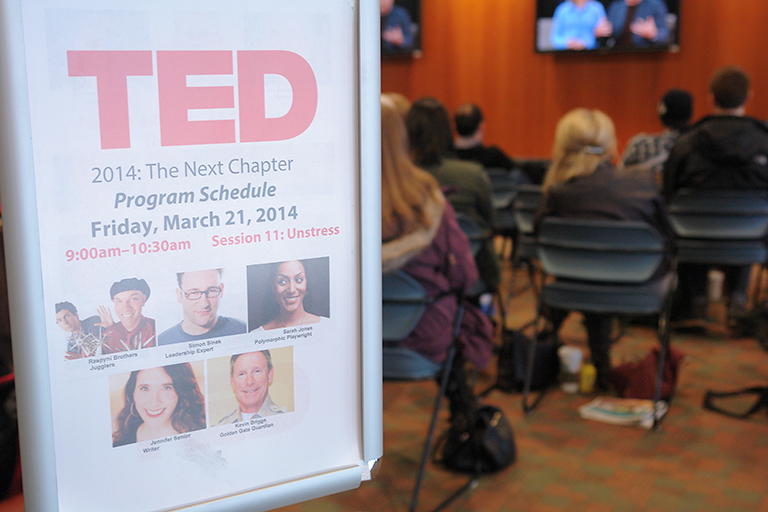 This is the first time that UBC has live streamed TED on campus. Photo credit: CTLT